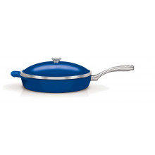 Frigideira com tampa 30 cm teflon Lyon - Azul - Tramontina