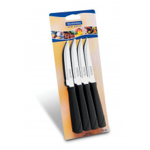 Conjunto de facas para churrasco 12 peças inox New Kolor - Preto - Tramontina