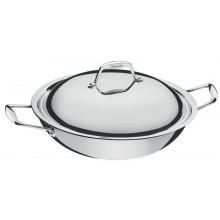Panela wok com tampa 32 cm inox Trix Ceramic - Tramontina