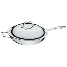 Panela wok 32 cm inox Trix - Tramontina