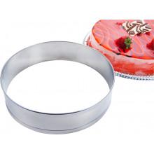 Aro modelador para bolo 25 cm inox Redondo - Doupan