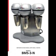 Batedor Milk Shake 3Hastes 220V Mono-Bms-3-Siemsen