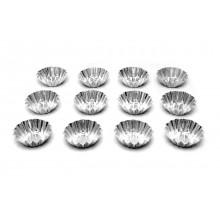 Conjunto de forminhas de empada crespas 12 peças n°1 alumínio - Doupan