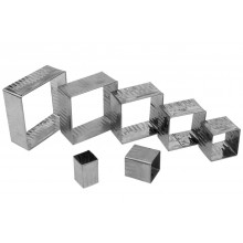 Conjunto de cortadores 7 peças inox Quadrados Crespos - Doupan