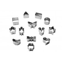 Conjunto de cortadores 13 peças inox Petit Four Mini - Doupan