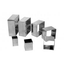 Conjunto de cortadores 7 peças inox Quadrados - Doupan