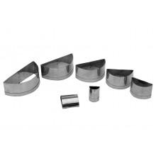 Conjunto de cortadores 7 peças inox Risolis - Doupan