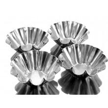 Conjunto de forminhas de brioche 12 peças alumínio - Doupan