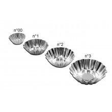 Conjunto de forminhas de empada crespas 12 peças n°2 alumínio - Doupan
