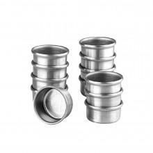 Conjunto de forminhas de pão de mel 12 peças n°3 com cordão alumínio - Doupan