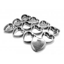 Conjunto de forminhas de pão de mel 12 peças alumínio Coração - Doupan