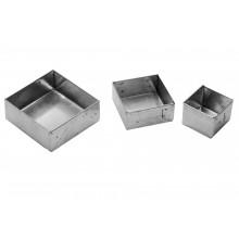 Conjunto de forminhas de pão de mel quadradas 12 peças pequeno alumínio - Doupan