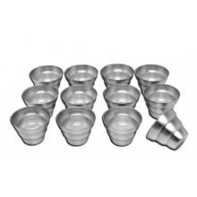 Conjunto de forminhas de pudim onduladas 12 peças alumínio - Doupan