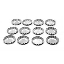 Conjunto de forminhas de torta de maçã crespas 5 cm 12 peças alumínio Festa - Doupan