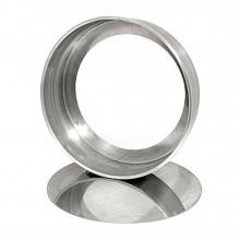 Forma reta com fundo falso 15X5 cm alumínio - Doupan