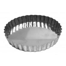 Forma de torta crespa com fundo fixo 25X2 cm alumínio - Doupan