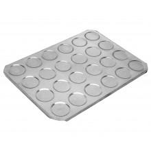 Forma para bem casado redondo 24 cavidades alumínio - Doupan