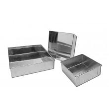 Forma quadrada com fundo fixo 15X7 cm alumínio - Doupan