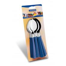 Conjunto de colheres de mesa 12 peças inox New Kolor - Azul