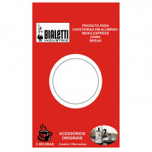Conjunto de borrachas de vedação 3 peças para cafeteira de 3 xícaras - Bialetti