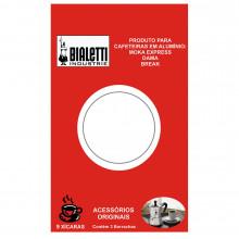 Conjunto de borrachas de vedação 3 peças para cafeteira de 9 xícaras - Bialetti