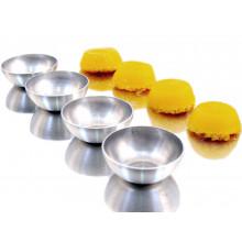Conjunto de forminhas de quindim 12 peças 5,8 cm alumínio - Doupan