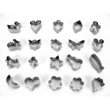 Conjunto de cortadores 20 peças inox Petit Four - Doupan