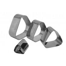Conjunto de cortadores 4 peças inox Esfiha - Doupan