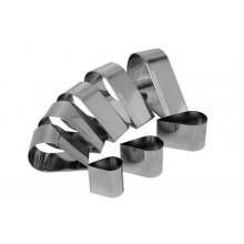 Conjunto de cortadores 8 peças inox Gota - Doupan