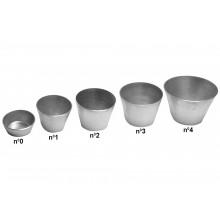 Conjunto de forminhas de bombocado 12 peças n°3 alumínio - Doupan