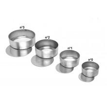 Conjunto de forminhas de pão de mel 12 peças n°3 sem cordão e com fundo falso alumínio - Doupan