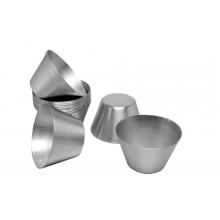 Conjunto de forminhas de pudim sobremesa 12 peças alumínio - Doupan