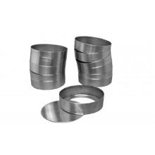 Conjunto de forminhas de quiche 12 peças n°1 com fundo falso alumínio - Doupan