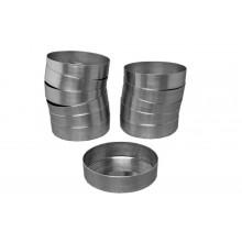 Conjunto de forminhas de quiche 12 peças n°1 com fundo fixo alumínio - Doupan