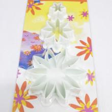 Conjunto de cortadores 3 peças plástico Flor - Prime Chef