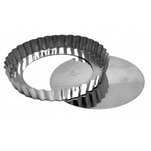Forma de torta crespa com fundo falso 25X3 cm alumínio - Doupan