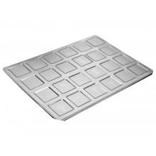 Forma para bem casado quadrado 24 cavidades alumínio - Doupan