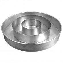 Forma para bolo xadrez alumínio - Doupan