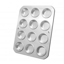 Forma para cupcake grande com 12 cavidades alumínio - Doupan