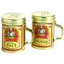 Saleiro e pimenteiro em inox decorado Salt&Pepper - Fox Run